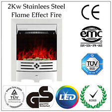 2kw Stainless steel Electric Fire Home Fan Heater Freestanding Inset Fireplace