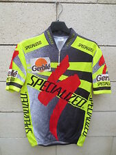 VINTAGE Maillot cycliste SPECIALIZED GERBLE cycling jersey shirt maglia trikot M