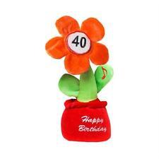 Plüschblume HAPPY BIRTHDAY 40 - mit Musik!
