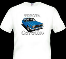 TOYOTA  KE55  COROLLA SEDAN  WHITE  T-SHIRT     MEN'S  LADIES  KID'S  SIZES