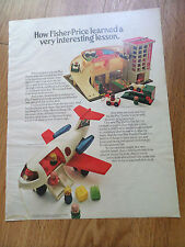 1970 Fisher Price Toys Ad  Play Family Action Garage & Fun Jet