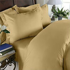 1000 Thread Count TC 100% Egyptian Cotton DUVET Set KING / CAL KING Gold Solid