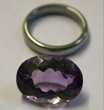 NATURAL LOOSE AMETHYST GEMSTONE 20X15MM GEM 19CT FACETED OVAL AM52