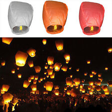 High 1Pcs Chinese Lanterns Sky Fire Fly Candle Lamp for Wish Party Wedding hot