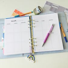 A5 Planner Insert Filofax Kikkik Week On 2 Pages WO2P (3 Month/13 Weeks Printed)