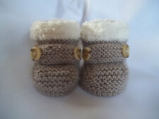 KNITTING PATTERN no 2 To knit baby / reborn  booties in 3 sizes  (INSTRUCTIONS)