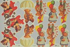 Chromo Le Suh Décroupis Ours Nounours 1985 Embossed Illustrations Teddy Bear