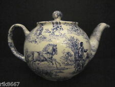 1 Heron Cross Pottery ROMANCE (BLUE) Chintz English 3 Cup Tea Pot or 2 mugs