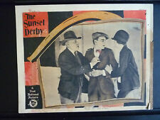 1927 THE SUNSET DERBY - LOBBY CARD - HORSERACING - MARY ASTOR - TRACK BETTING