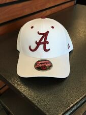 White  A Alabama Crimson Tide Hat / Cap by Zephyr NCAA Hats