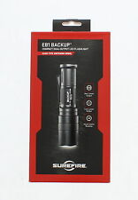 Surefire EB1C-A-BK Backup Click Switch Dual Output LED Flashlight, Black
