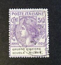 """ITALIA, ITALY REGNO-PARASTATALI 1924 """"Gruppo Azione Scuole Milano """" 50c.US ss.41"""