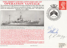 HMS Meon  35th Anniv Operation Vantage Kuwait Signed 3