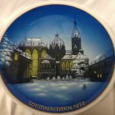"ROSENTHAL GERMANY WEIHNACHTEN 1978 WALL PLATE 8 3/4"" DOM ZU AACHEN CATHEDRAL"