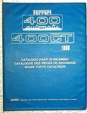 CATALOGO PARTI  RICAMBIO  SPARE PARTS  FERRARI  400 Automatic  400 GT