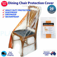 2 x Dining Chair Furniture Protector Cover Plastic Protection for Moving Storage