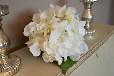 Extra Large White Hydrangeas, Individual Artificial Luxury Giant Silk Flowers