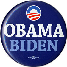 2008 Obama Biden Campaign Logo Button (1639)