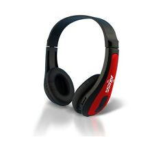 Axess HPBT624-RD Rechargeable Wireless Bluetooth Headphones with Mic