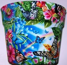 BUTTERFLIES RAINBOWS GARDEN FLOWER POT PARTY GIFT BASKET SUPPLIES CONTAINER