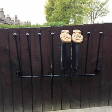 4 PAIR WROUGHT IRON WALL MOUNTED WELLY WELLINGTON BOOT RACK STAND 2/3/4/5/6+