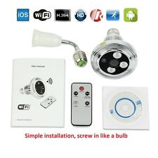 Bulb Camera Motion Detection HD Night Vision WIFI P2P IP Light CCTV Security Cam
