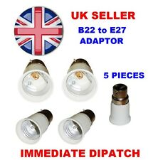 5 x B22 To E27 Bulb Base Lamp Socket Fitting Extender Converter Adaptor Holder