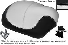 BLACK & WHITE CUSTOM FITS APRILIA MOJITO HABANA 50 150 SINGLE LEATHER SEAT COVER