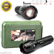 G700 X800 Zoom Taschenlampen XMLT6 LED ShadowHawk Torch+18650 Akku+Lade+Case Set