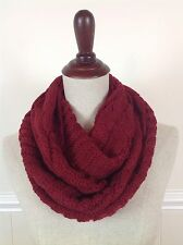 Women's Men's Winter Cable Knit Warm Infinity Scarf Braided Cowl Eternity Wrap
