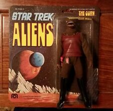 """RARE MINT ON BROWN CARD 1975 MEGO STAR TREK ALIENS THE GORN 8"""" FIGURE PUNCHED"""