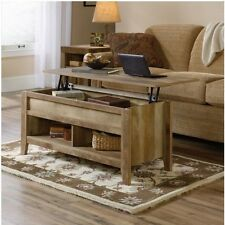 Rustic Lift Top Coffee Table Storage Desk Weathered Wood Living Room Furniture