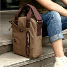 Mens Vintage Canvas Leather Shoulder Messenger Travel School Bag Satchel Handbag