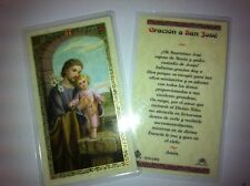 HOLY PRAYER CARDS FOR THE PRAYER TO SAINT JOSEPH SET OF 2 IN SPANISH FREE SHIP!