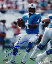 WARREN MOON HOUSTON OILERS HOF 06   ACTION SIGNED 8x10
