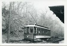 6A102 RP 1971 BALTIMORE MD TRANSIT TROLLEY #264 'CAREY ST' ON OLD MA & PA RR ROW