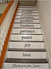 Fruit of the Spirit Large Stairs Vinyl Decal Stickers lettering