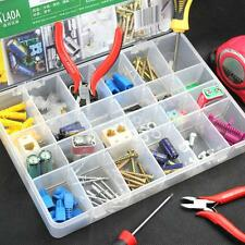 24-Compartments Plastic Storage Box Jewelry Craft Beads Bin Tool Case Holder
