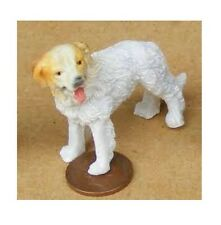 Dolls House 12th scale Resin Standing white haired Retriever Dog
