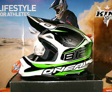 O NEAL 812 Crosshelm 8 Series Enduro XL KX-F KX Neu + Monster Energy Sticker Set