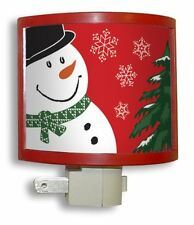 Amerelle 75061 Manual On/Off Snowman Picture Frame Night Light, Red