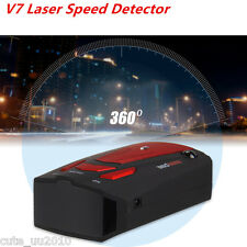 Car Radar Detector Laser Speed Detector With English Russian Voice Red V7 360D
