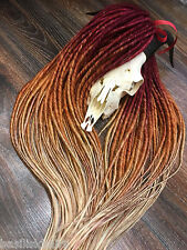 FULL SET ombre BURGUNDY blond double ended synthetic dreads/dreadlock extension