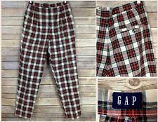 Vintage 1990s GAP Womens Red Plaid Dress Pants High Waisted 30x31 M ? 6 8 ?