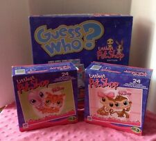 Littlest Pet Shop Guess Who Board Game Puzzle Lot! Fun Age 3+ EUC