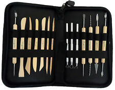 14 Pcs Wooden Metal Pottery Sculpture Professional Clay Tool Kit (ar99)
