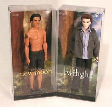 Barbie PINK LABEL Collector EDWARD & JACOB ~ 2 DOLL Set Twilight Saga New Moon