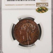 1856 G.Britain 1/2 Penny NGC MS 63 BN