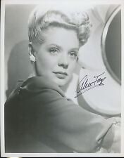 """Alice Faye signed photo. NICE younger """"dreamy"""" photo."""