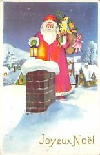 B86322 santa with toys  and fir france santa claus father christmas papa noel
